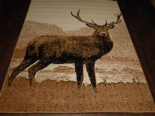 Modern Approx 8x5ft 160cmx230cm Woven Backed Quality rugs stag New Large Beiges